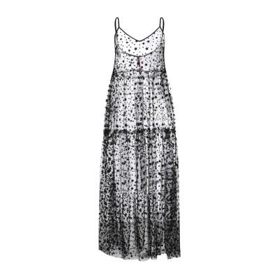 インペリアル IMPERIAL 7分丈ワンピース・ドレス ブラック XS ポリエステル 100% / ポリウレタン 7分丈ワンピース・ドレス