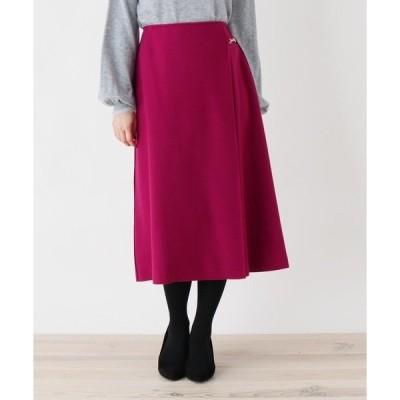 スカート 【大きいサイズあり・13号・15号】innowave ビットミモレラップスカート