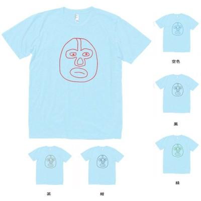 人物・有名人 Tシャツ マスクマン2 水色