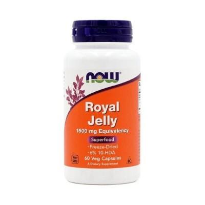 ナウフーズ ローヤルゼリー 1500mg 60ベジカプセル Now Foods Royal Jelly 1500 60 Veg Capsules