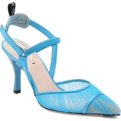 フェンディ FENDI レディース パンプス シューズ・靴 Colibri Tulle Pointed Toe Slingback Pump Blue