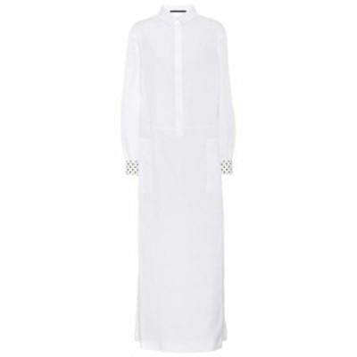 ハイダー アッカーマン Haider Ackermann レディース ワンピース シャツワンピース ワンピース・ドレス Cotton shirt dress White