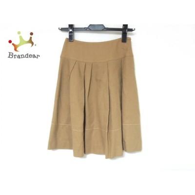 エムズグレイシー M'S GRACY スカート サイズ36 S レディース 美品 - ベージュ ひざ丈/プリーツ   スペシャル特価 20210317