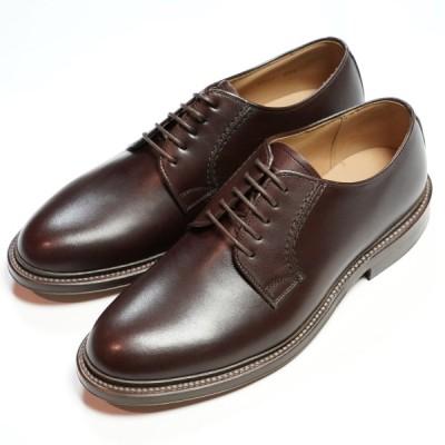 日本製グッドイヤーウエルト紳士靴 ショーンハイト 外羽根プレーントウ(SH308-1)ラバー底 ブラウン