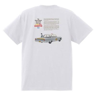 アドバタイジング フォード 825 白 Tシャツ 黒地へ変更可 1961 サンダーバード ギャラクシー ファルコン フェアレーン エコノライン f100