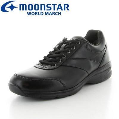 ムーンスター メンズ 本革 カジュアルシューズ ワールドマーチ WM3016SP ブラック moonstar world march