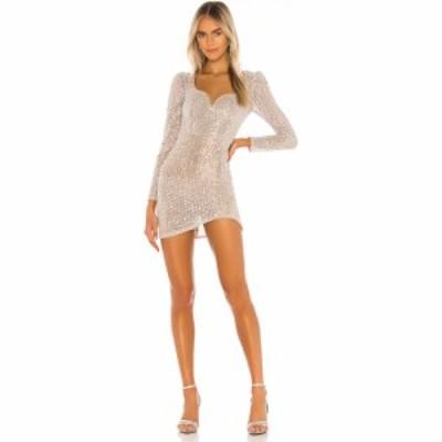 カミラ コエーリョ Camila Coelho レディース ワンピース ミニ丈 ワンピース・ドレス Thalia Mini Dress Silver