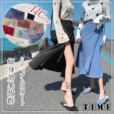 人気商品  レトロ Aライン  半身スカートレディース 必須スカート美脚効果抜群 夏欠かせない服