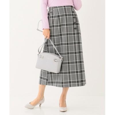 【エニィスィス/any SiS】 【洗える】T/Rチェックアソート スカート