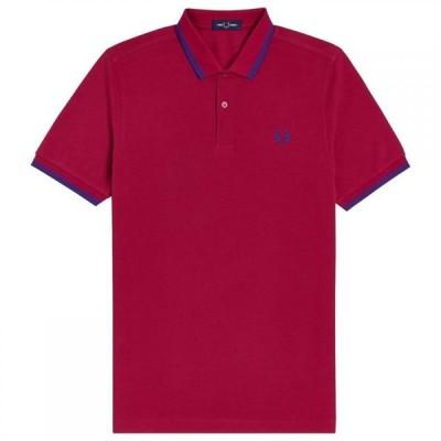フレッドペリー Fred Perry メンズ ポロシャツ 半袖 トップス Short Sleeve Twin Tipped Polo Shirt Red