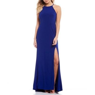 ジャンプ レディース ワンピース トップス High Neck Jersey Long Dress