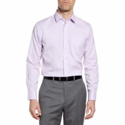 ノードストローム NORDSTROM MENS SHOP メンズ シャツ トップス Smartcare Trim Fit Solid Dress Shirt Lavender Spray