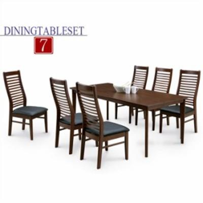 ダイニングテーブルセット 6人用 7点セット ダイニングセット 6人掛け 食卓セット モダン シンプル ダイニング7点セット 幅180テーブル