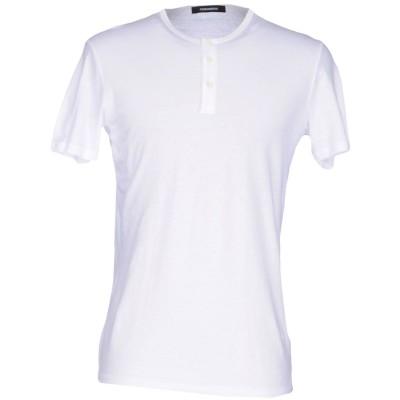 ディースクエアード DSQUARED2 アンダーTシャツ ホワイト XL コットン 70% / 麻 30% アンダーTシャツ