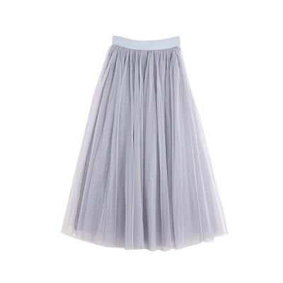 [エムティーエボコン] チュール スカート Aライン レディース 68cm グレー