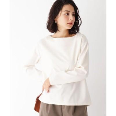tシャツ Tシャツ バックスリットデザイン ツイルカットソー