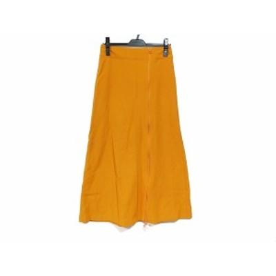 イッセイミヤケ ISSEYMIYAKE ロングスカート サイズ2 M レディース 美品 - オレンジ【中古】20210123