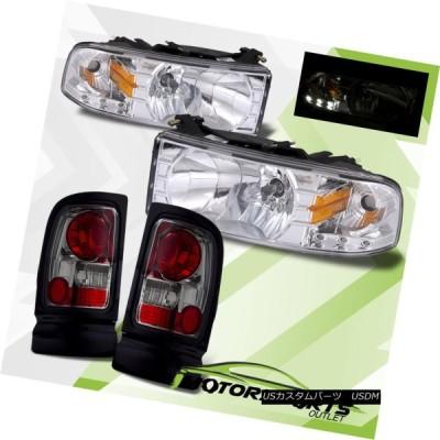 ヘッドライト 1994-2001 Dodge Ram 1500 2500 3500クロームLEDヘッドライト、スモークテールライトセット 1994-2