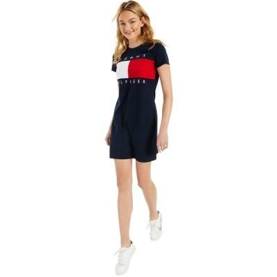 トミー ヒルフィガー ワンピース トップス レディース Logo T-Shirt Dress Stone Grey Heather Multi