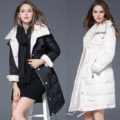 80%ダウンコート予約(Sで1kg重量あり)おしゃれで暖かいコート裏起毛アウター黒白緑水色S-2L  MD-BL671 送料無料