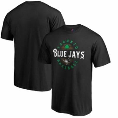 Majestic マジェスティック スポーツ用品  Majestic Toronto Blue Jays Black Forever Lucky T-Shirt