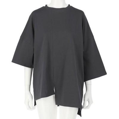 ANAP アシンメトリーオーバーサイズTシャツ(アッシュブラック)