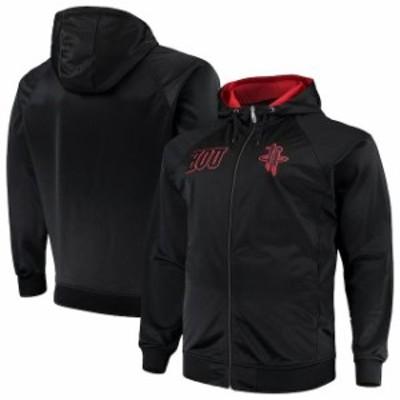 Majestic マジェスティック スポーツ用品  Majestic Houston Rockets Black/Red Big & Tall Blackout City Color Pop Full-Zip Hoodie
