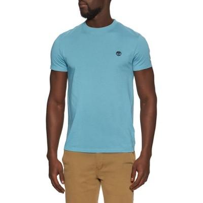 ティンバーランド Timberland メンズ Tシャツ トップス dunstan river jersey crew slim short sleeve t-shirt Adriatic Blue