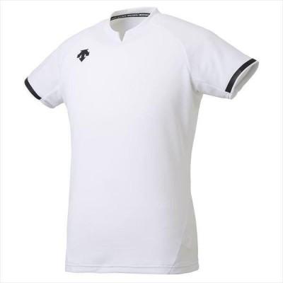 デサント 男女兼用 半袖ゲームシャツ ホワイト DSS-4024-WHT <2020NEW>