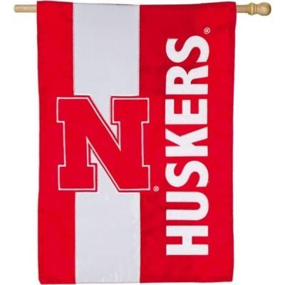 ネブラスカ大学 コーンハスカーズ Nebraska Cornhuskers グッズ Evergreen Embellish House Flag
