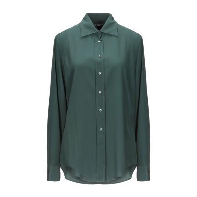 アスペジ ASPESI シャツ ダークグリーン 44 シルク 100% シャツ