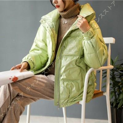 レディース ダウンコート ダウン 立ち襟 アウター ショート 軽量 冬服 冬物 厚手 高 暖かい 防寒 アウトドア 冬のコート ダウンジャケット カジュアル