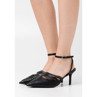 エヌ エー ケイ ディ ヒール レディース シューズ STRAP DETAILED SLINGBACK - Classic heels - black