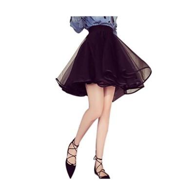 レディース スカートフェミニン skirt ミニスカート チュチュ ミディアム Aライン バレエ ひざ 丈 ファッション 着痩せ