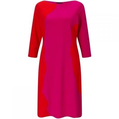 ジュームズ レイクランド James Lakeland レディース パーティードレス ワンピース・ドレス Bicolour three quarter Sleeve Dress Fuchsia