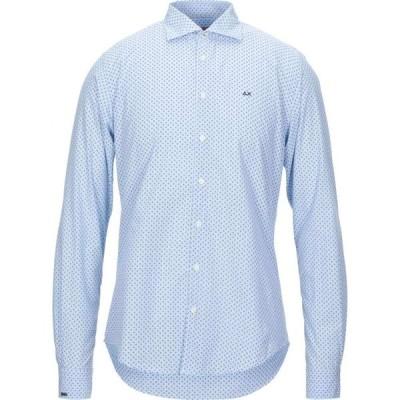 サン シックスティーエイト SUN 68 メンズ シャツ トップス patterned shirt Sky blue