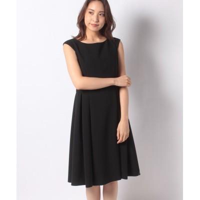 (MISS J/ミス ジェイ)【洗える】【セットアップ対応】シルキーストレッチ ドレス/レディース ブラック