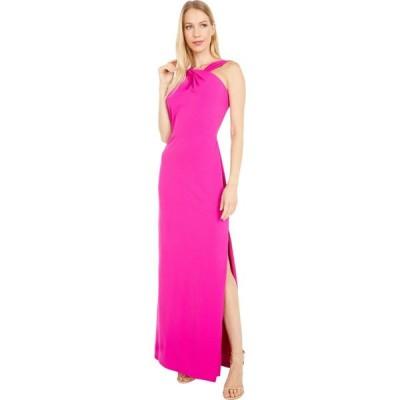 ベベ Bebe レディース パーティードレス ワンピース・ドレス Scuba Crepe Long Gown Fuchsia