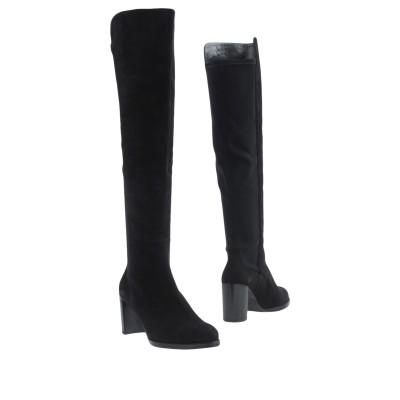 スチュワート ワイツマン STUART WEITZMAN ブーツ ブラック 39.5 革 / 紡績繊維 ブーツ