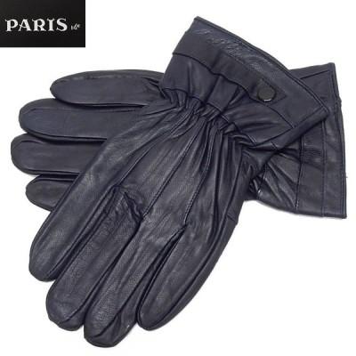 手袋 PARIS16e 羊革/シープスキン ネイビー メンズ グローブ メール便可 LAM-N06-NV