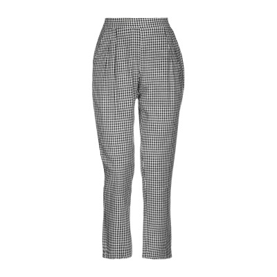 CRISTINA ROCCA パンツ ブラック 40 レーヨン 55% / 麻 45% パンツ