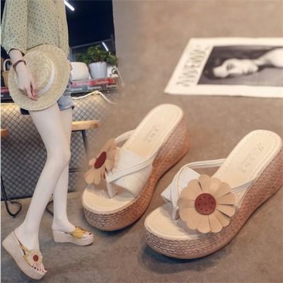 サンダル レディース ミュール PU サマーサンダル 厚底 歩きやすい 履きやすい リゾート 海 夏 コンフォートサンダル カジュアル 靴 7cmヒール 可愛い 美脚