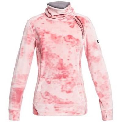 ロキシー レディース シャツ トップス Roxy Deltine Velour Fleece - Women's Silver Pink Tie Dye