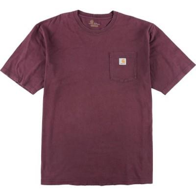 カーハート Carhartt ORIGINAL FIT ワンポイントロゴポケットTシャツ メンズXXL /eaa153068