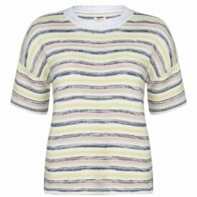 バブアー Barbour Lifestyle レディース ニット・セーター トップス Harbourside Knitted T Shirt Multi Stripe