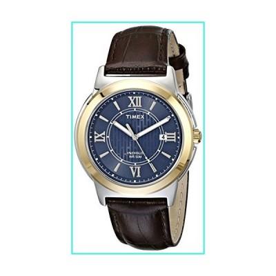 【新品】Timex Men's T2P5219J Main Street Two-Tone Stainless Steel Watch with Brown Leather Band(並行輸入品)