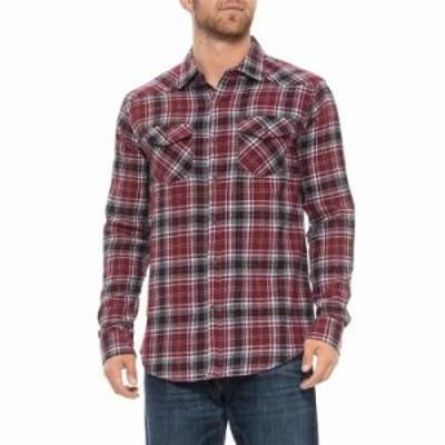 リー シャツ Cooper Flannel Shirt - Long Sleeve Zinfandel