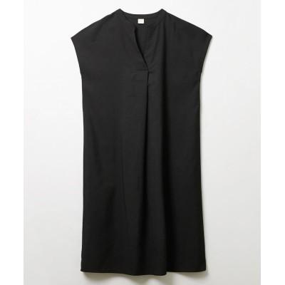 重ねVネックスキッパー半袖ワンピース (ワンピース)Dress
