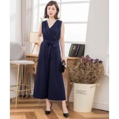 DRESS STAR(ドレス スター)カシュクールネックノースリーブワイドパンツドレス【お取り寄せ商品】
