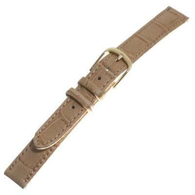 TOPMOA (トップモア) 時計バンド ワニ型押カラー ベージュ12mm 04365